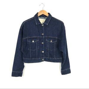 Pilcro and the Letterpress Cropped Denim Jacket A6